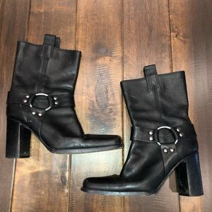 Women's leather Michael kors motorcycle boots